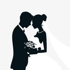Bride and groom with wedding invitation card vector 08 Bride And Groom Silhouette, Couple Silhouette, Wedding Silhouette, Silhouette Vector, Wallpaper Images Hd, Cute Wallpaper Backgrounds, Wedding Ideias, Background Images Hd, Latest Wallpapers