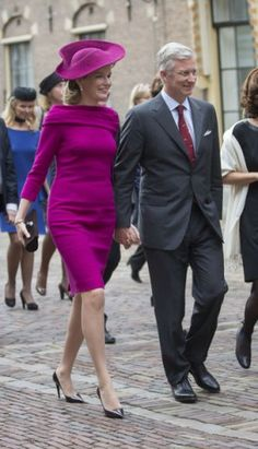 Belgian Royal Visit The Hague....Posted on November 8, 2013 by HatQueen....King Willem Alexander and Queen Máxima of the Netherlands welcomed King Philippe and Queen Mathilde of Belgium for a visit today...