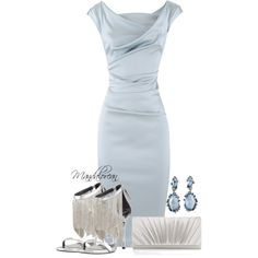 A fashion look from January 2014 featuring Talbot Runhof dresses, B Brian Atwood sandals and Accessorize clutches. Browse and shop related looks.