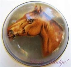 Antique Equestrian Horse Bridle Rosette Brooch c1900 by MercyMadge        www.etsy.com