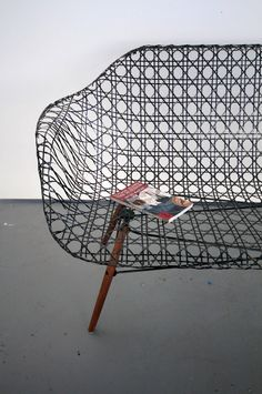 // Woven 12k Carbon Fiber Tow Sofa by Matthew Strong