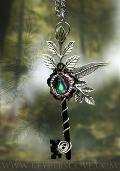 """finelaceandpearls: """" sweetlysurreal: """" Into the Forest Key Necklace by *KeypersCove """" TumbleOn) """""""