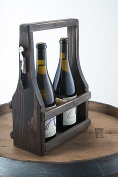 Items similar to Handmade Wine Carrier Wine Tote Wooden Natural Reclaimed Reused Cedar Wood Dark Espresso Stain with a Soft Curve on Etsy Wine Caddy, Wine Tote, Wooden Projects, Wooden Crafts, Wine Carrier, Wood Wine Racks, Wine And Beer, Bottle Crafts, Wood Pallets