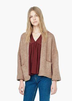 Side pockets cardigan - Women | MANGO