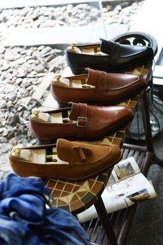 Wow they make some beautiful shoes.     Corno blu by Yutaka Seigaku  Visit Our Website:  Coccinella / BOTTEGA del SARTO