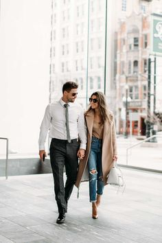 HelloFashionBlog: Casual office looks for him and her. Who says you cant wear denim to the office on a Monday?