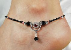 Anklet Ankle Bracelet Pink Anklet by ABeadApartJewelry on Etsy
