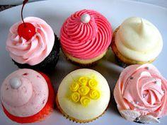 Elegant piped cupcakes