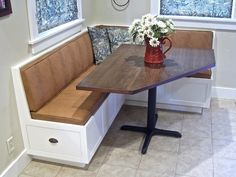 l shaped booth for kitchen - Google Search