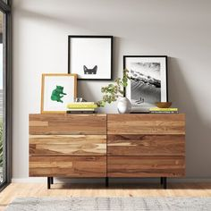 May 2020 - Reclaimed Teak 6 Drawer Double Dresser Bedroom Dressers, Bedroom Furniture, Bedroom Dresser Styling, Bedroom Sconces, Baby Furniture, Home Bedroom, Modern Bedroom, Decoration Bedroom, Modern Dresser