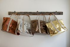 Uashmama Metallic Day Bags | Velvet & Dash