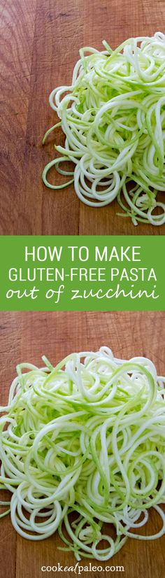 Zucchini is a quick and easy gluten-free, grain-free, paleo pasta alternative — you don't even have to cook the zucchini pasta. ~ http://cookeatpaleo.com