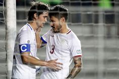 Philip Younghusband (left) of the Philippines celebrates with teammate Carlos De Murga after scoring a goal during the 2019 AFC Asian Cup Qualification Final Round soccer match between the Phili. Afc Asian Cup, Soccer Match, Move Mountains, Photojournalism, Nepal, Philippines, Abs, Celebrities, Sports
