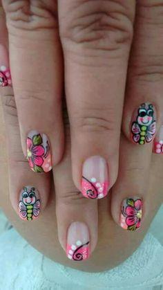 Decoración de uñas 💅👣😛 #AndrRegiino😗 Pedicure Designs, Nail Art Designs, Nail Art Techniques, Spring Nails, Nails Inspiration, Pretty Nails, Acrylic Nails, Hair Beauty, Nail Polish