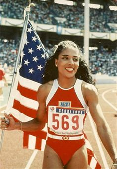 """Florence Griffith Joyner died in her sleep on September 21, 1998 at the age of 38.]   Florence Griffith Joyner made sports history in 1988 when she became the first American woman to win four medals in a single Olympic Games, with three golds and a silver. In doing so, she set world records in the 100-meter and 200-meter track events, earning her the title """"World's Fastest Woman."""" As the world watched, Flo-Jo changed the image of female track athletes with her custom-designed running outfits and"""