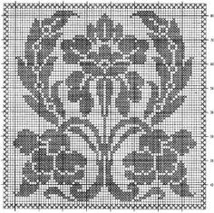 crochet em revista: esquema crochet cortina