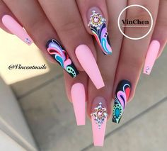 makeup ideas nail art designs nail art nailart makeup nail makeup brush nail designs airbrush makeup makeup ideas and nail makeup Glam Nails, Dope Nails, My Nails, Nail Swag, Stylish Nails, Trendy Nails, Nagel Bling, Nagellack Design, Best Acrylic Nails