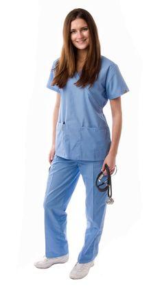 Women's Mock Wrap 2 Piece Medical Scrubs