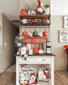 Christmas Coffee, Christmas Kitchen, Rustic Christmas, Christmas Home, Xmas, Disneyland Christmas, Christmas Time Is Here, Merry Little Christmas, Coffee Bar Home
