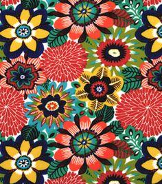 45'' Home Essentials Fabric-Robert Allen Trop Flora Cherry