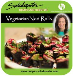 Sushi craving? Try these #Vegetarian Nori Rolls by @marniwasserman ...