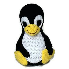This pattern is to create a stuffed Tux, the Linux Penguin amigurumi. Working to the same gauge as me, your Tux will be 21 cm tall.