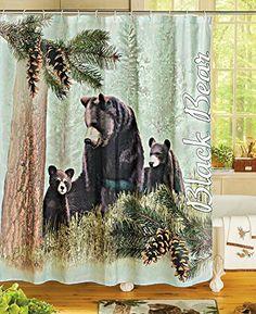 Bear Lodge Nature Northwoods Shower Curtain