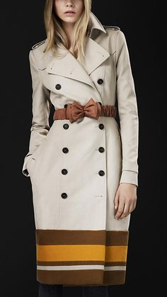 Burberry College Stripe Trench coat - I will need to win the lottery for this baby!