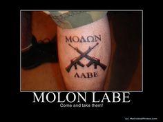 Molon Labe Tattoo -