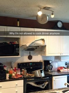Or a kitchen full of disaster: | 24 People Who Are Having A Way Worse Day Than You- what the hell did this person do?