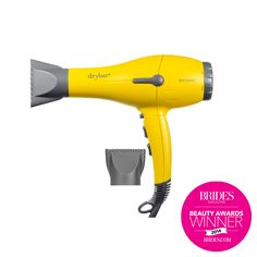 Brides.com: . Best Hair Dryer for Your Wedding Day: Drybar. Shocker (not): The hottest blowout bar in the country makes a truly kickass dryer. We like the heat and power this generates without being so hefty that we feel like we're doing bicep curls with every blast.    Buttercup hair dryer, $190, Drybar