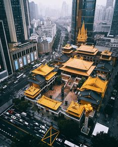 jing an temple shanghai, China Places To Travel, Travel Destinations, Places To Visit, Asian Architecture, Architecture Design, Architecture Courtyard, Building Architecture, Architecture Office, Futuristic Architecture