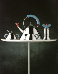 The Graves Family- Alessi Micheal Graves. Clever Design, Cool Designs, Alessi Products, Michael Graves, Silver Teapot, Kitchenware, Tableware, Teapots And Cups, Dreams