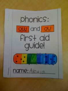 Phonics-ow and ou