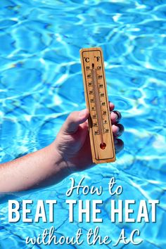 How to Beat the Heat without Turning on the AC - Whether you're trying to save money or dealing with a broken air conditioner, sometimes you need to find simple ways to beat the heat without turning on the AC like these 6 tips! Things To Do Inside, Cool Things To Make, Summer Heat, Summer Days, Diy Air Conditioner, Fruit Infused Water, Beat The Heat, Do It Yourself Projects