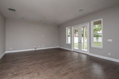 Sherwin Williams Colonnade Gray SW7641. Chesapeake Canyon Way wood floors.
