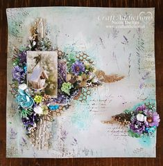 Moodboard Challenge Maart @ CraftAddiction Mixed Media Challenge