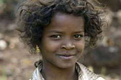 Beautiful Africoid-Indian girl known as Dalit, descendents of the ancient Dravidians