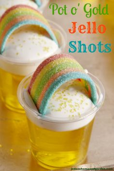 ~ WET MY WHISTLE ~ Pot o' Gold Jello Shots