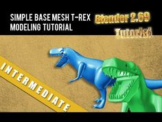 Simple Base T-Rex Dinosaur Modeling Tutorial in Blender 2.69 (+playlist)