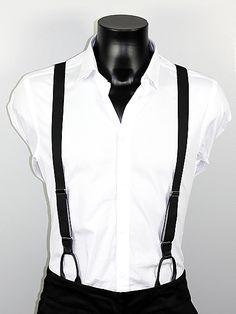 Bretelles noires fines Albert Thurston http://www.bretelles-homme.fr/bretelles-a-boutons/bretelles-fines-noires-pattes-cuir-albert-thurston