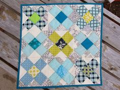 texty background on patchwork