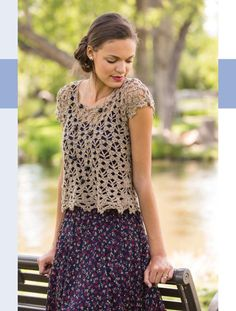 Au Naturel Cropped Top - Pattern is near the bottom of the page. I need this book!