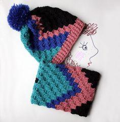 A Free Crochet Pattern – Zeens and Roger C2c Crochet, Love Crochet, Easy Crochet, Crochet Patterns, Crochet Winter, Crochet Ideas, Crochet Stitches, Crochet Beanie Hat, Crochet Hats