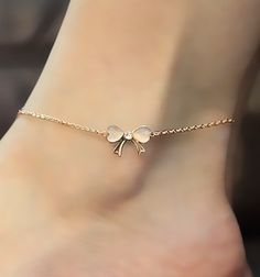 Studded Bow Anklet.. So pretty <3