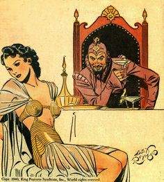 Flash Gordon / Dale Arden and Ming the Merciless by Alex Raymond