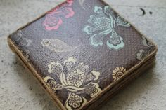 Brown Lace and Flowers Coaster Set by LoveIncPhilly on Etsy, $10.00