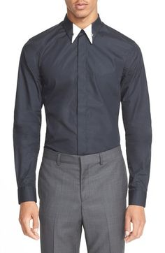 Givenchy Extra Trim Fit Star Collar Shirt available at #Nordstrom