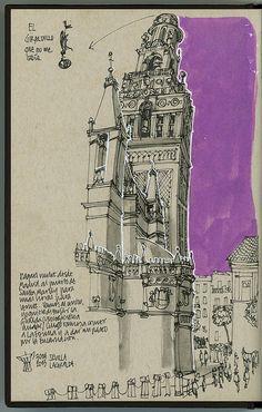 Miguel Herranz - Sevilla #1 , Spain (Urban Sketchers)