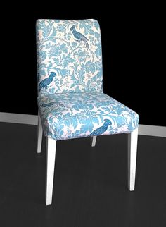 Beautiful slipcover for the HENRIKSDAL dining chair in Barber, Village Blue!  Replace your existing cover for a whole new look.  - Velcro attachment under seat - 100% Cotton.  More colors: https://www.etsy.com/listing/204844538/custom-barber  Free shipping